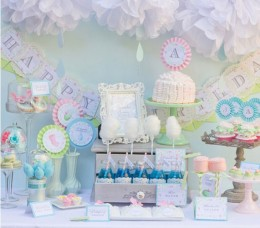 Flowers baby shower theme