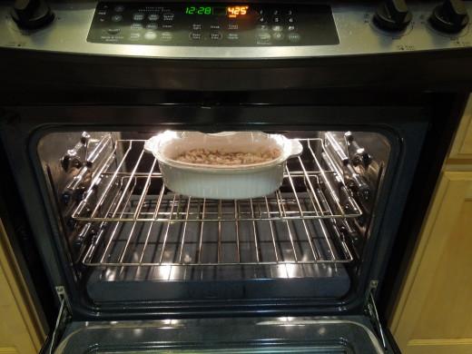 Baking the potato