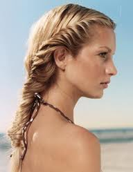 Loose fishtail braids - perfect for a wedding