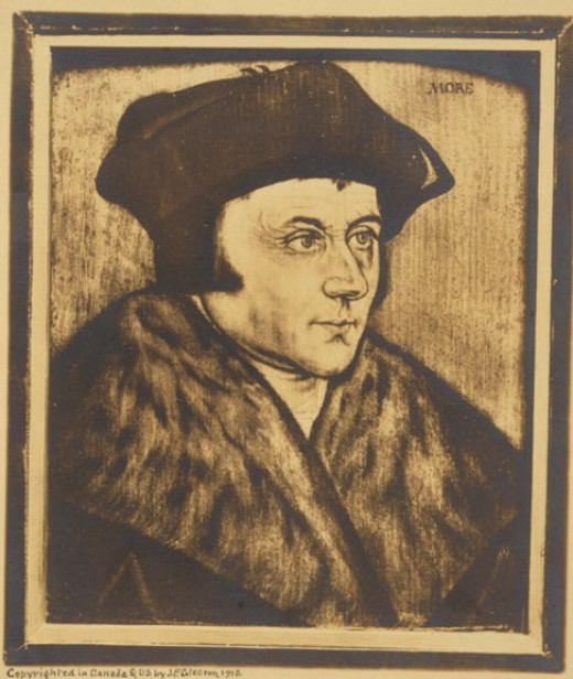 Sir Thomas More, author of UTOPIA (1516)
