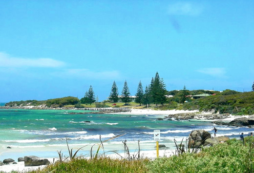 You can camp right on the beach at many locations all around Australia, such as at this spot on Flinders Bay