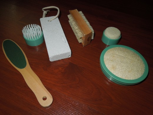 Tools to remove dead skin