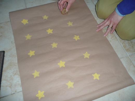 Placing the yellow stars