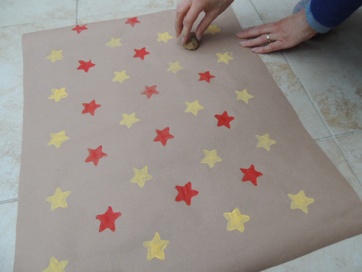 Adding red stars in between