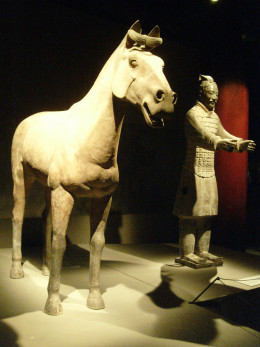 A charioteer and his horse