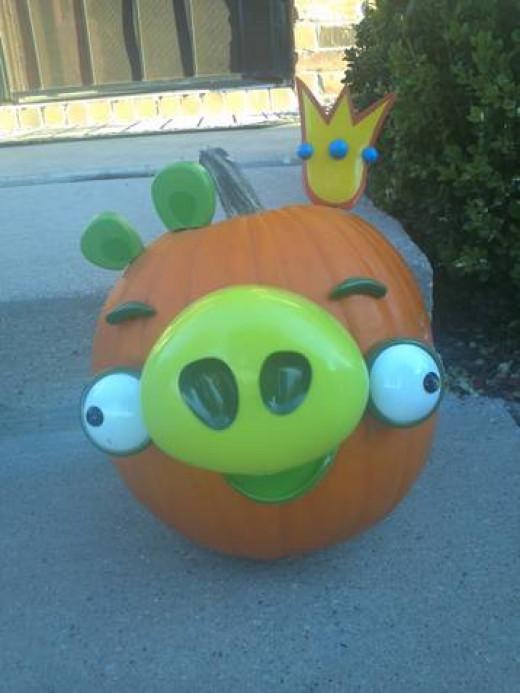 King Pig No-Carve Pumpkin