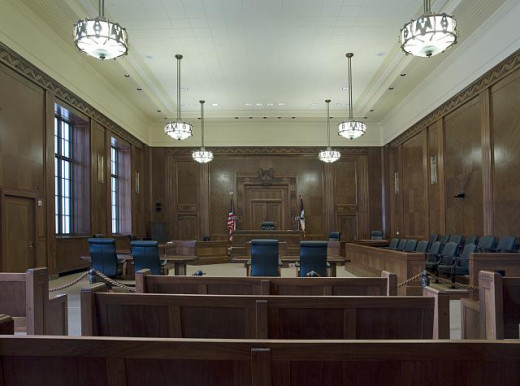 Typical court room.
