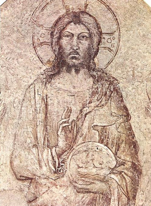 Saviour Blessing by Simone Martini (1285-1344); Palace of Popes, Avignon.