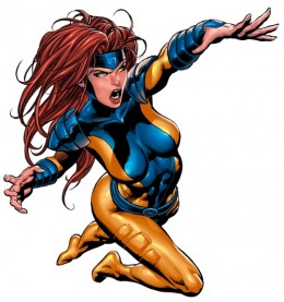 Gold and Blue Jean Grey Costume, Jim Lee