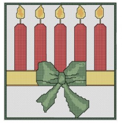 free cross stitch pattern Christmas Candles