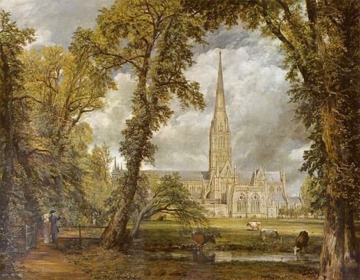 Cathedral of Salisbury, England  by John Constable (1776-1837)