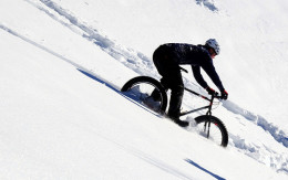 Mountain biking can be fun in the winter if you have the right setup