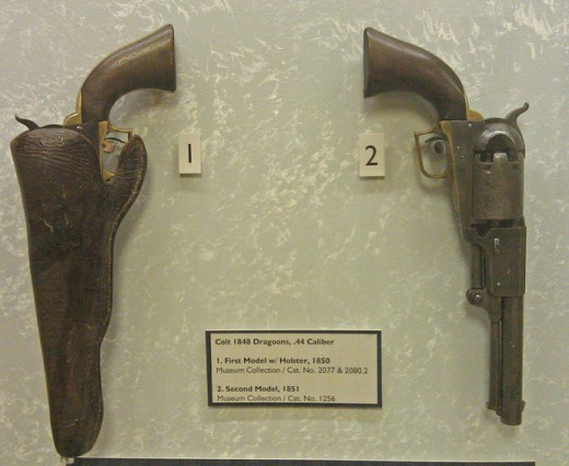 The Colt Dragoon Revolver, an important weapon that helped the Texas Rangers win battles with the Comanches.