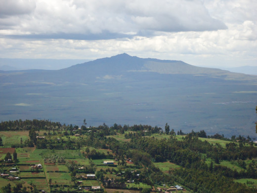 Mt. Longonot at  a distance