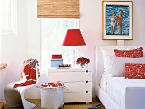 complimentary colours are great to make a room look brighter