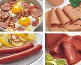 Salami,Bacon, Ham, Sausages