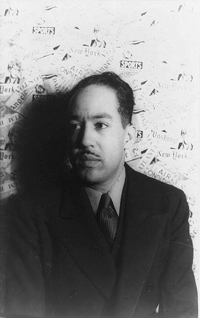 Portrait of poet, novelist, playwright Langston Hughes, 3/4 profile; Carl Van Vechten, photographer, Feb. 29, 1936.