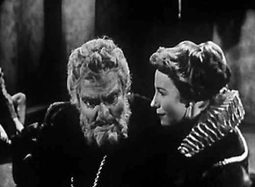 Orson Welles in a 1953 Peter Brooks t.v. production of King Lear.