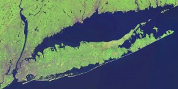 NASA Landsat satellite image of Long Island and surrounding areas