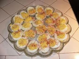 Doubled Egg Recipe on a Double Egg Platter