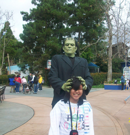 Frankenstein joining our vacation at Universal Studios