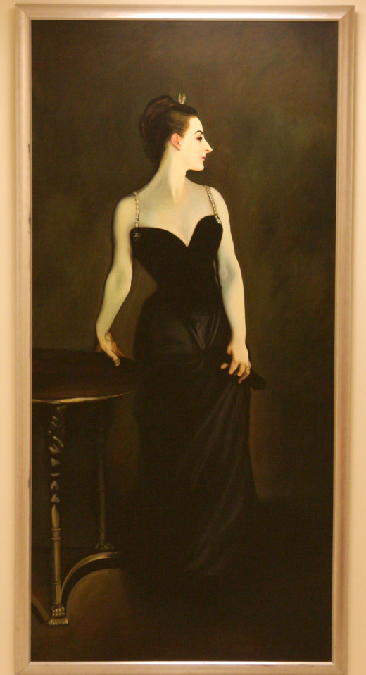 "Photo of a huge photographic enlargement of John Singer Sargent's ""Madam X"" which I ran across at Macy's department store recently."