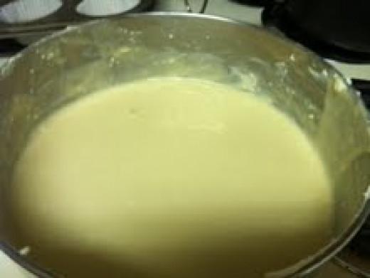 Cheesecake batter.