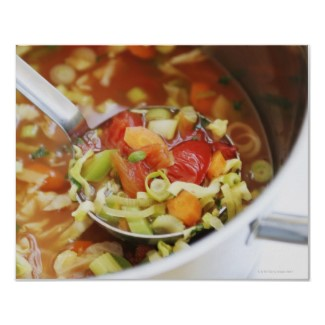 Vegetable soup print