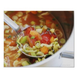 Vegetable soup print