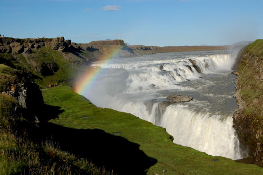 Gullfoss is one of the most impressive of Iceland's many waterfalls.