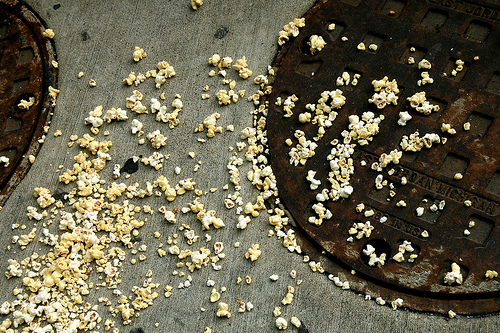 Popcorn confetti after a film?