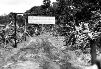 Entrance to Jonestown.