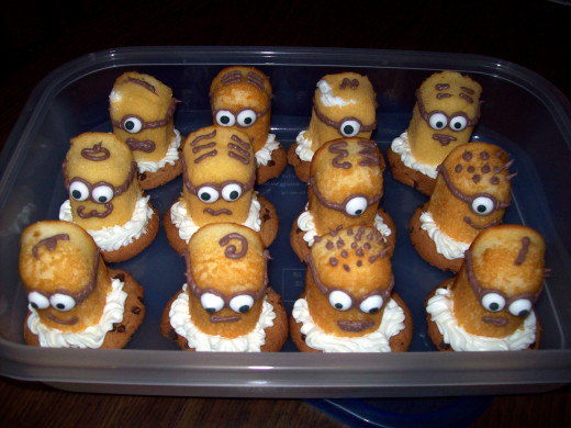 Despicable Me Minion Cupcake Toppers Cookie No Bake Option