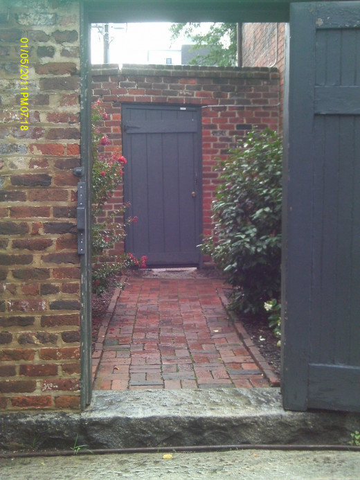 The Door leading into the Garden from the Exhibit Room