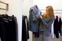Many clothing stores hire seasonal workers.