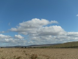 Moorland and clouds