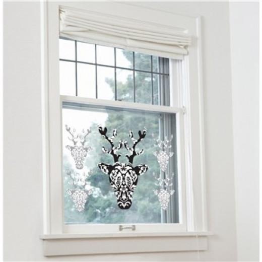 Reindeer Window Cling, Sticker