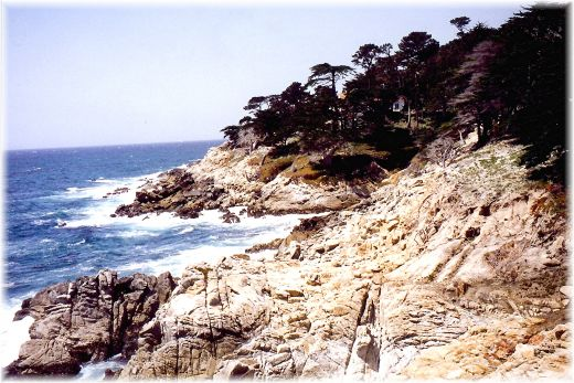 Seacoast Picture from Famous 17 Mile Drive in California