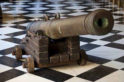 This gun salvaged from the Nuestra Señora de Atocha was photographed by Paul Hermans on March 22, 2011.
