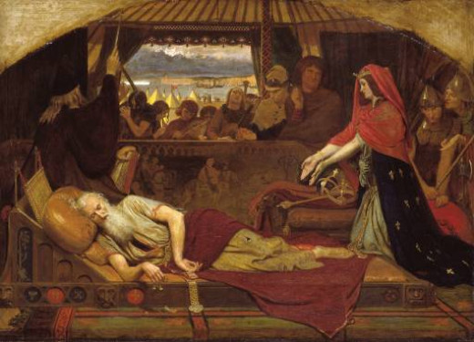 Cordelia and a sleeping King Lear by Ford Madox Brown (1848)