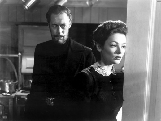 Rex Harrison and Gene Tierney in The Ghost and Mrs. Muir (1947)