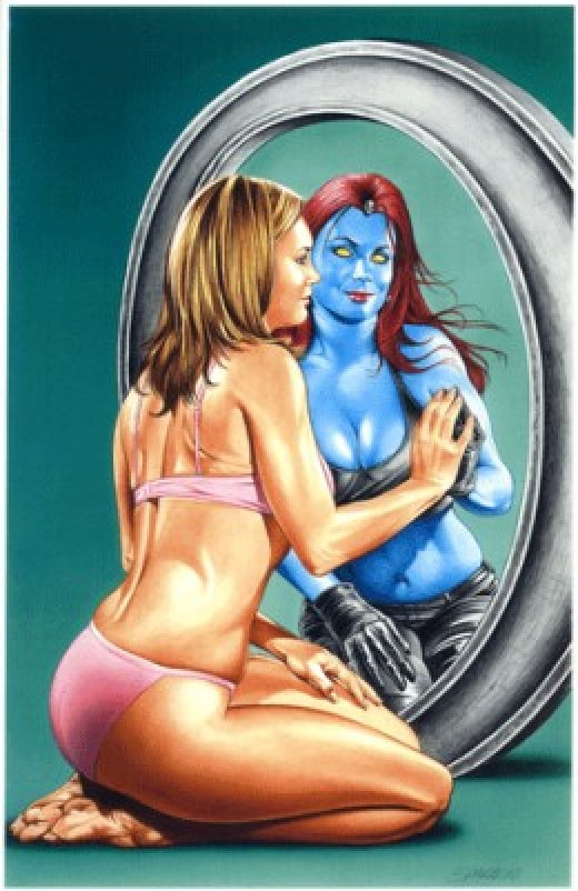 Mystique Mirror Reflection