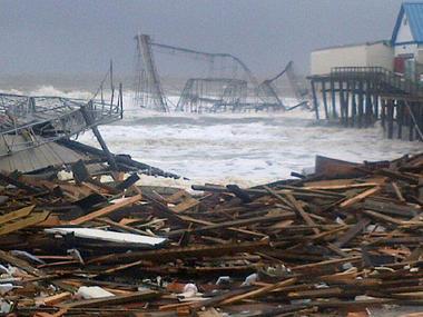 Pieces of The Atlantic City Boardwalk Afterwards