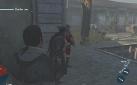 Assassin's Creed Find and Rescue Ben Church - notice the warehouse shed on the right where Church is being held captive.