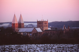 Southwell Minster at dusk