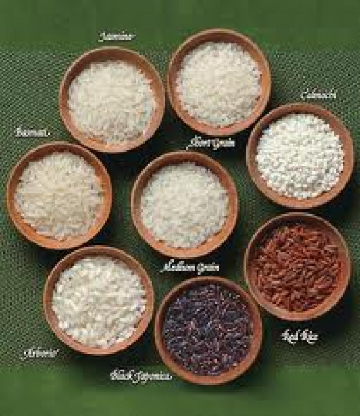 Assorted types of rice