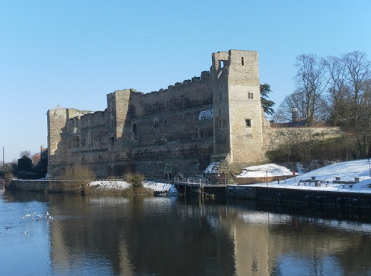 Newark Castle in Winter