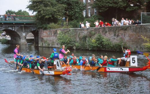Dragon Boat racing at Newark