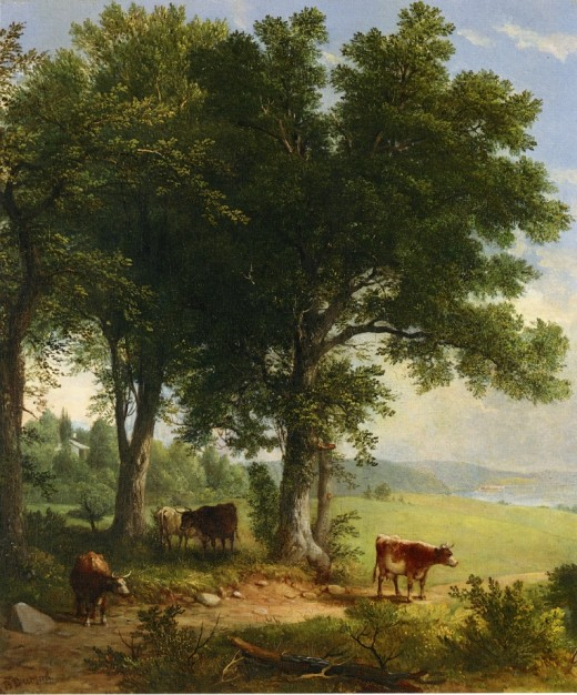 In the shade of the old oak tree, by Asher Brown Durand (1796-1886)