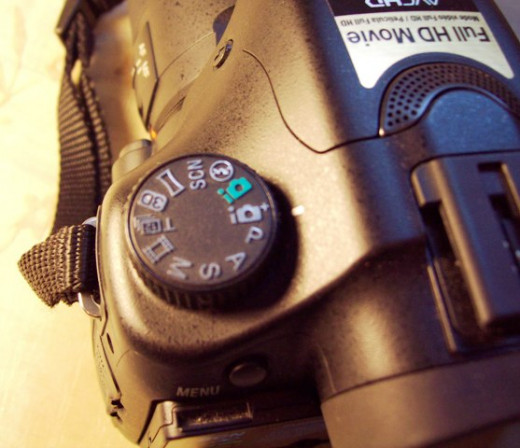 The settings abound on a DSLR.
